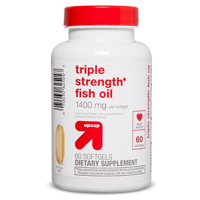 up&up Triple Strength Fish Oil 1400 mg - 60 Count