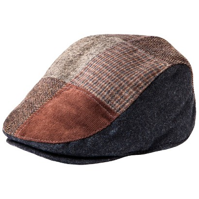 Men's Driving Cap - Brown Patchwork