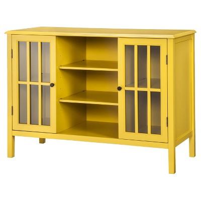 Windham 2 Door Storage Cabinet with Shelves - Yellow - Threshold™