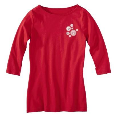 Juniors Half Sleeve Boatneck Red T-Shirt
