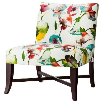 Owen X-Base Slipper Chair - Multi-Colored Floral