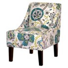 Hudson Swoop Chair - Blue/Green