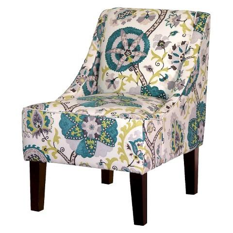 Hudson Swoop Chair - Blue/Green