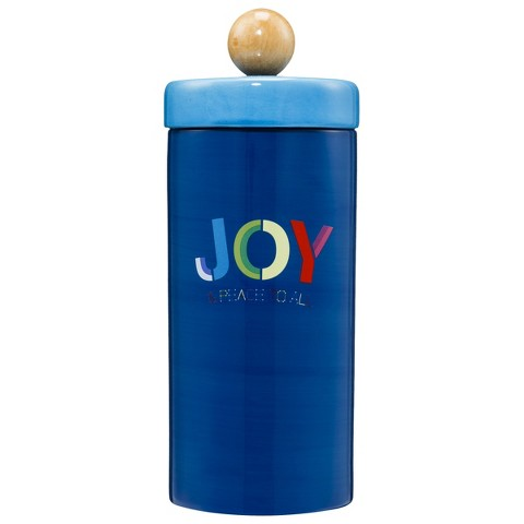 Holiday Ceramic Canister - Blue