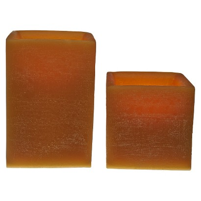 2pk Beeswax Large Square Flameless Candle Variety Set - TruFlame