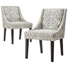 Griffin Cutback Dining Chair - Gray, Citron (Set of 2)