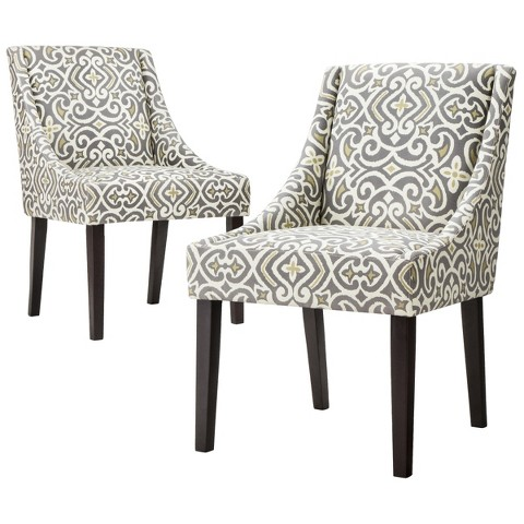 Griffin Cutback Dining Chair Gray Citron Set Target