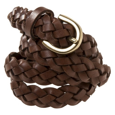 s braided leather belt brown mossimo s target