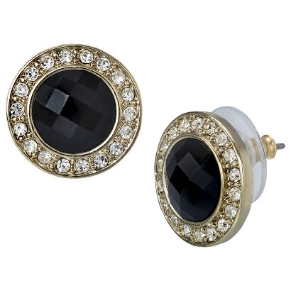 Lonna & Lilly Button Earrings - Black