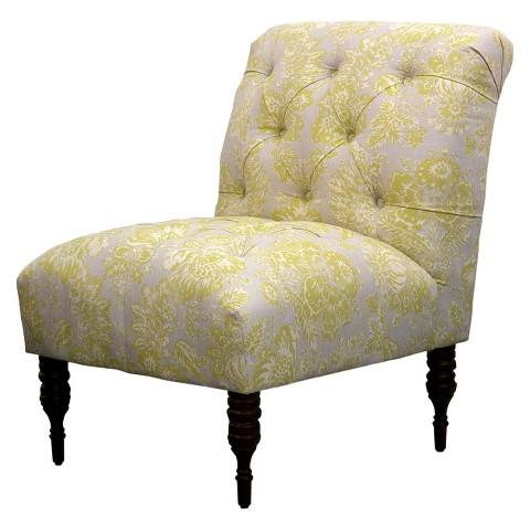 Vaughn Tufted Slipper Chair - Gray/Citrine Floral