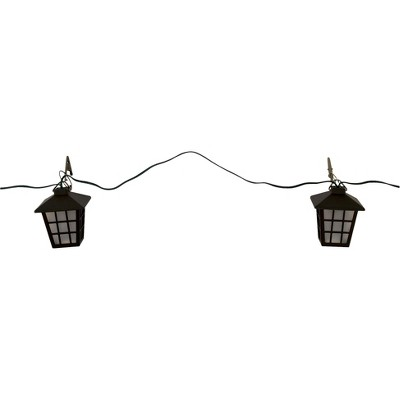Ecom Outdoor Umbrella Light SLC 1 Number Of Pieces In Set Black 20 Number Of Light Bulbs Plastic