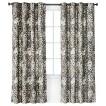 Threshold™ Floral Grayson Grommet Window Panel - Gray