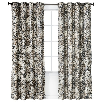 Threshold™ Floral Grayson Grommet Window Panel - Gray