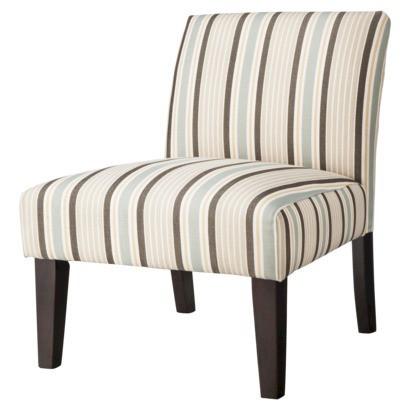 Avington Upholstered Slipper Chair Stripes