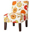 Burke Armless Slipper Chair - Whimsical Floral