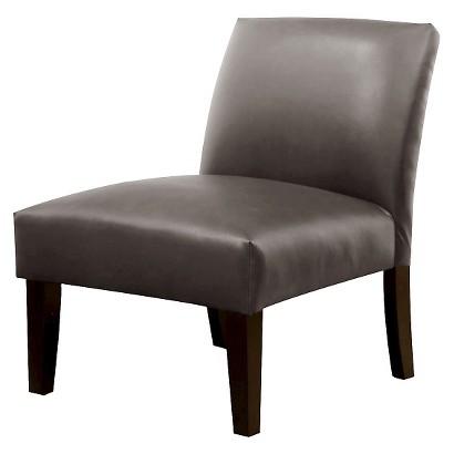 Avington Upholstered Slipper Chair - Charcoal Bonded Leather