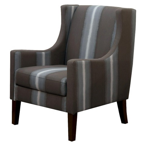 Jackson Upholstered Wingback Chair - Gray Ombre