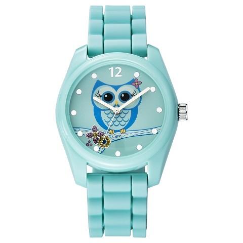 Women's Xhilaration® Owl Character Analog Watch - Green