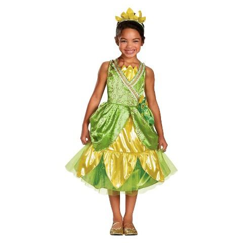 Toddler/Girl's Disney Princess Tiana Sparkle Deluxe Costume