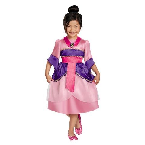 Disney Princess Girls' Mulan Sparkle Costume