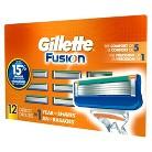 Gillette® Fusion® Manual Cartridges - 12 Cartridges