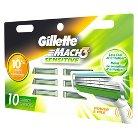 Gillette Mach3 Sensitive Razor Cartridges - 10 count