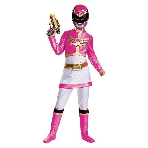 Girl's Power Rangers Pink Power Rangers Megaforce Deluxe Costume