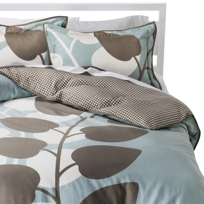 ROOM 365™ SHADOW LEAVES DUVET COVER SET - BLUE (KING)