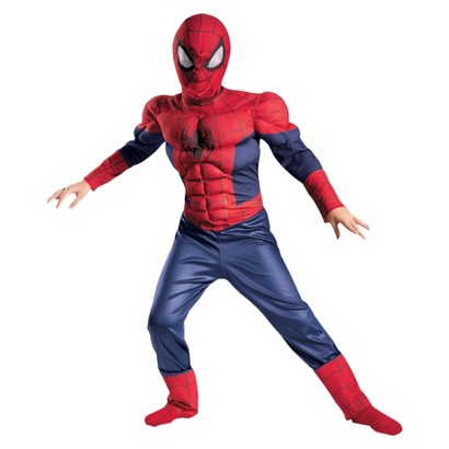 Boy's Ultimate Spider-Man Muscle Costume