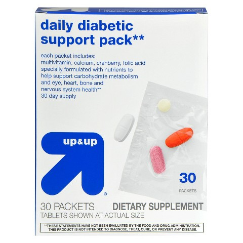 up&up Daily Diabetic Support Pack - 30 Count