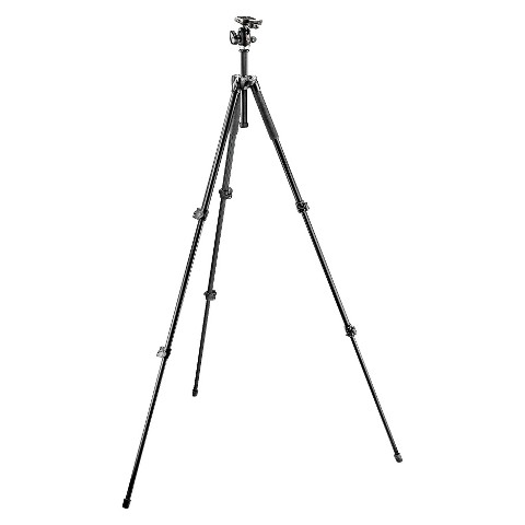 Manfrotto 290 Series Camera Tripod with 3-way Head - Black (MK293A3-A0RC2)