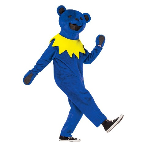 Men's Grateful Dead Blue Dancing Bear Costume - One Size Fits Most