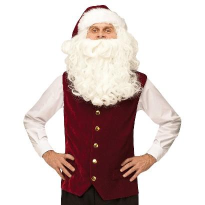 Image of Adult's Santa Vest with Hat