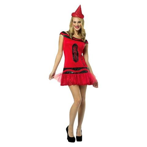 Women's Crayola Big Dip O Ruby Glits & Glitter Dress - One Size Fits Most