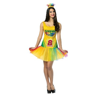 Women's Crayola Crayon Box Costume - One Size Fits Most