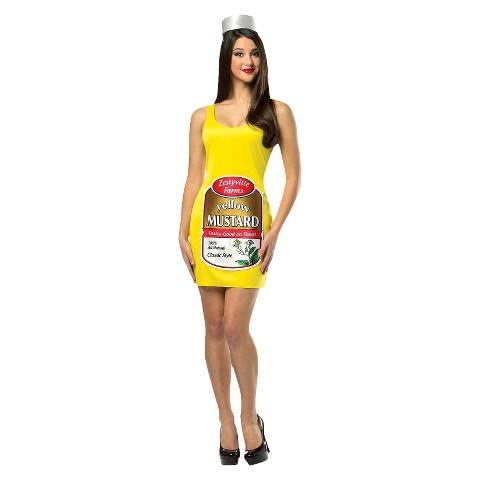 Women's Zestyville Mustard Tank Dress - One Size Fits Most
