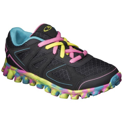Girl's C9 by Champion® Premiere Running Shoes - Black/Multicolor