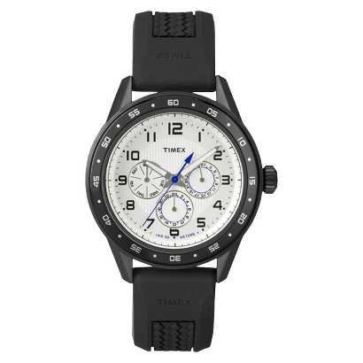 Men's Timex® Analog Strap Watch - Black/White