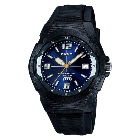 Men's Casio Dial Watch with 10 Year Battery - Blue/Black