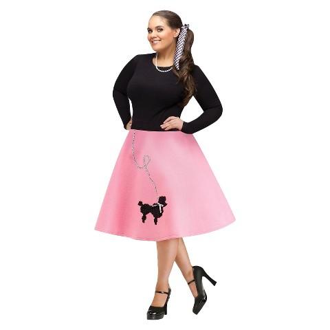 Women's Poodle Skirt Plus Size Costume - XXL/XXXL