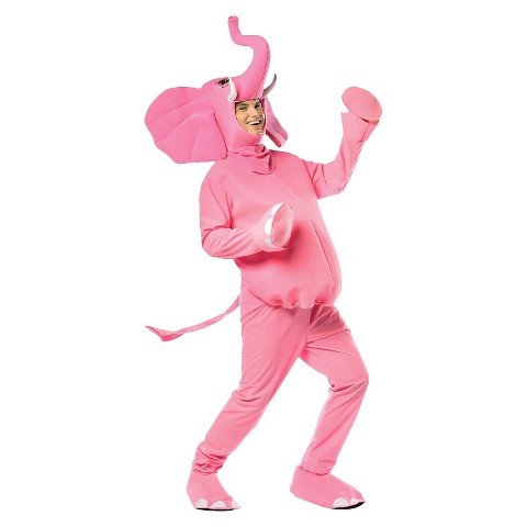 Adult Pink Elephant Costume - One Size Fits Most
