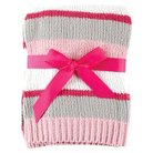 Hudson Baby Striped Chenille Baby Blanket - Pink
