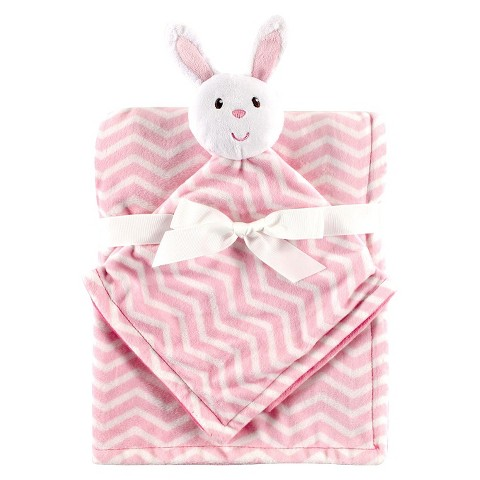 Hudson Baby Plush Security Blanket & Blanket - Pink Bunny