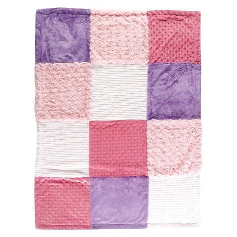 Hudson Baby Multi-Fabric Baby Blanket - Pink