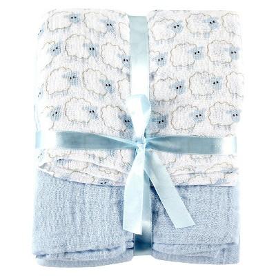 Swaddle Blanket Hudson Baby Lite Blue 2 Pk