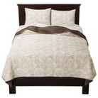 Threshold-TM White Floral Stitched Bedding Co...