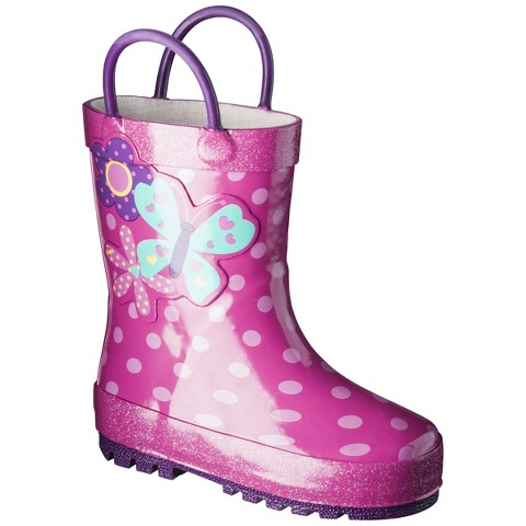 Toddler Girl's Darling Cutie Rain Boot - Pink