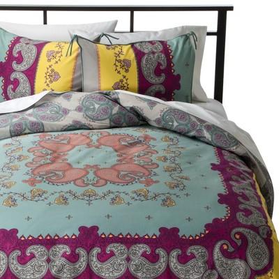 Lola Reversible Duvet Cover Set Full/Queen Multicolor - Boho Boutique™