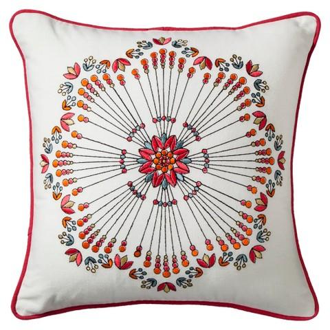 Boho Boutique® Zazza Embroidered Decorative Pillow