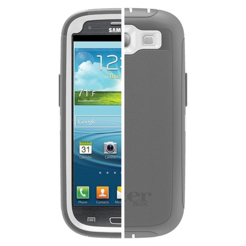 Otterbox Defender Cell Phone Case for Samsung Galaxy S III - Gray (77-21514P1)